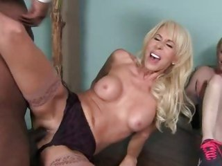 Randy Erica Lauren gets slammed up her wet snatch