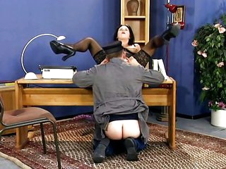 German office dame banged