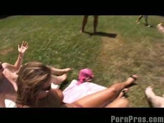 Trina michaels and her friend get cumshot surprise