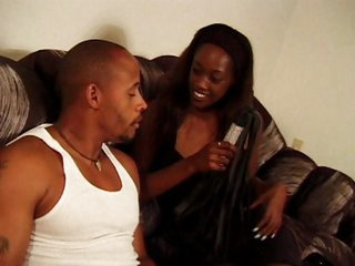 Ebony taken vaginal and gets her tits spermed