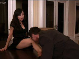 Christine Nguyen Sucks Cock and Gets Fucked On a Table - Softcore Sex Scene