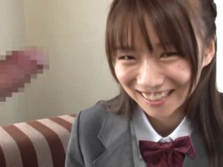Asuka Hoshino Gives Blowjob Wearing Her School Uniform