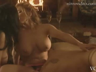 Wild Lesbian Threesome Featuring Amanda Auclair and Her Girlfriends