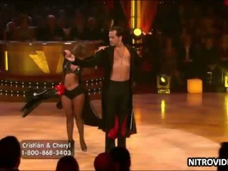 Boner-Inducing Babe Cheryl Burke Dancing In a Tight Leather Dress