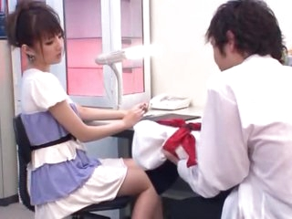 Hot Asian Schoolgirl Giving a Great Handjob