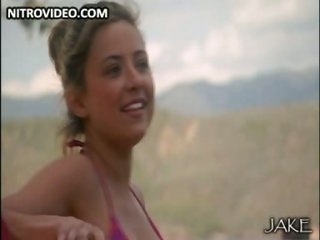 Cute Christine Lakin Wearing a Hot Bikini - Scene From 'Blue Demon'