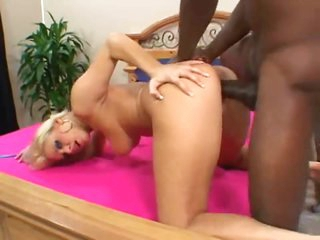 Big fucking black cock for her hot box