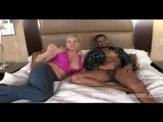 Kinky mom does black guys cock