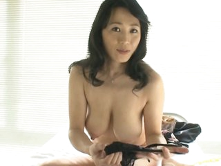 Sexy Asian MILF Natsumi Kitahara Takes Off Her Panties for a POV Porn Video