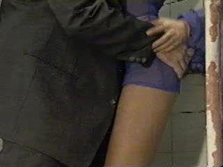 Anita Blonde fucking in public toilet