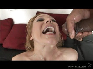 Filthy Liv Wylder gets showered in warm nut juice