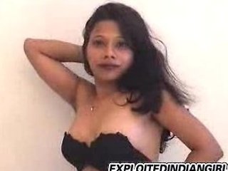 Indian babe strips then plays with her wet pussy