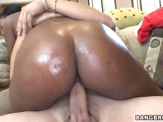 Black babes have amazing asses. Monique Symone is the one. Her juicy ass makes ivory guy's white dick rock hard. She takes it up her wet pussy. Monique Symone rides the guy and he keeps his hands on her beautiful chocolate ass.
