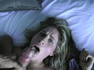 Alluring babe is covered in tasty prick paste