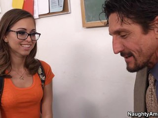 Spectacled Student Riley Reid really loves her tutor