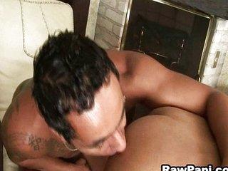 Wild Latin enjoy hardcore anal fucking