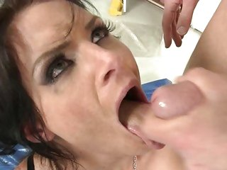 Phoenix Marie gets her mouth filled with warm jizz