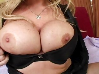 Savannah Janes big tits bounce as she fucks