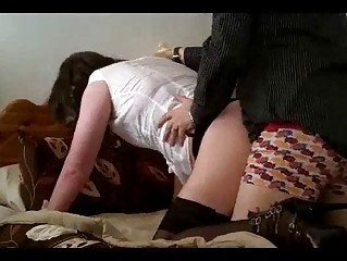 Crossdresser face fucked and taking anal from boyfriend