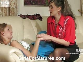 Helena&Emilia mature lesbian video