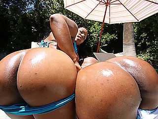 The booty count vampire is on the hunt for booty counting! When this chab spots two fine round large booty whores, that guy starts counting down how many seconds it will take for 'em to start engulfing his rod and draining that cum! Janae and Stacy love banging that overweight weenie and slapping their huge butts against those balls!