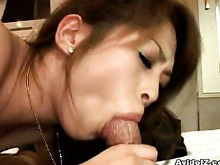 Hikaru like the feel of wang against her lips. So when her guy suggests his straining sausage,  that babe hungrily wraps her lips around her stud's cockhead. That Babe sucks on eagerly whilst this chab fingers her snatch.  Hikaru works on her dude's dong when it gets large, ruddy and ready to explode!  With her efforts, that guy spilled his cum all over her sexy lips.