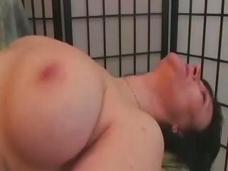 Gorgeous Granny Lesbian Martina Makes Jana Cum!