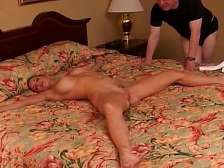 Cuckold watches while wife masturbates then gets nailed by a new cock