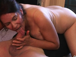 Nasty Granny Goes On Top Of A Good Hard Dick & Pumps It Well
