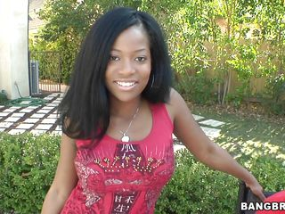 Monique Symone here is one sweet looking babe with a perfect figure and sexy attitude! See her sexy body full of curves. See her firm big boobs and hard nipples getting a good squeeze-bite treatment from the horny Caucasian boy, who got a boner from Monique's sexy lap dance with her wide ass earlier!