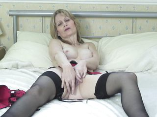 See this hot blonde lady playing with her milky white body alone. See her touching herself and having pleasure. She is all naked & horny and she wants to get fucked real hard. But she can't find anyone to help her out. So she keeps touching her clitoris, fingering her pussy and having pleasure!
