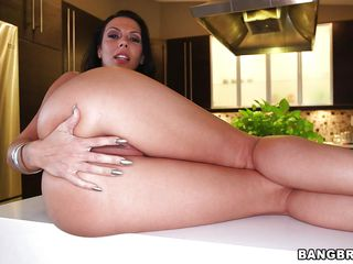 Perfect ass milf gives us a little show. She knows she's beautiful and her gorgeous ass can raise our cocks so the hot bitch plays with her incredible booty before sliding her lips on that big hard dick. She stuffs her pretty mouth with cock and then rides it in cowgirl position. What a beauty, don't miss her!