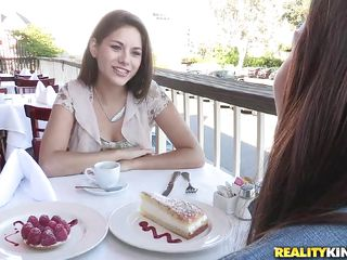These girls are having a nice brunch and cake and talking until they get hot and horny. Soon they go somewhere private and start kissing and undressing. Their kisses are sweet and their bodies, young and tense, are surely going to give us a nice show. Want to see what these girls are up to?