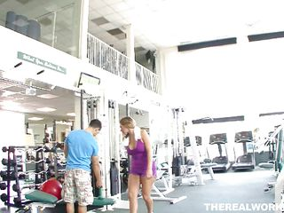 Big booty Nikki is in the gym working out her sexy body and that hot ass. The instructor sees her potential and offers her some private training. She agrees and goes inside a room with him to work out on the couch. He gives her a pussy lick and then pounds her ass from behind showing this slut what a real workout is