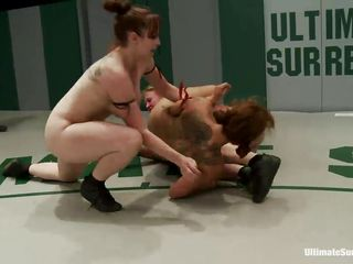 Sluts will be sluts, in their everyday life or the wrestling arena these whore are dirty! They fight and just to make things a lot more naughty another bitch enters the arena so there's two on one. Surely that cunt has no chance to win and she's being humiliated and dominated brutally. Want to see the results?