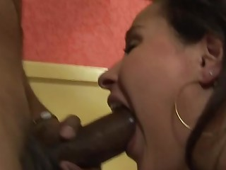 Threesome copulation with the amazing action of an anal fucking